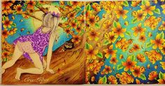 Atrasadíssima e depois de pintar 5876 florzinhas... Gabizinha Florisbela ficou pronta. ❤️ Lápis Giotto. #feitiçodotempo #thetimechamber #thetimechambercoloringbook #dariasong #editorasextante #giotto #giottostilnovo