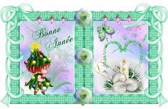 Tags cartes Bonne année - Créations Armony