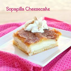 This Sopapilla Cheesecake is layers of cream cheese, crescent dough, and a cinnamon sugar layer. This is the perfect Mexican dessert. Don't know what to make for Cinco De Mayo? Need a dessert to go