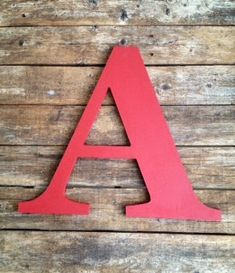 """Wooden Letters, 10"""".  Perfect for Christmas decor on your tree or on your wreath.  Multiple colors.  Quick Ship. by ASimplePlaceOnMain on Etsy"""