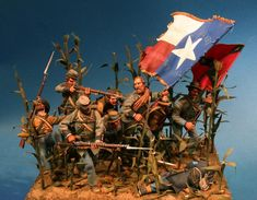 The Lone Star - Virtual Museum of Historical Miniatures American Revolutionary War, American Civil War, Military Diorama, Military Art, Battle Of Antietam, Pictures Of Jesus Christ, Civil War Art, Military Action Figures, Virtual Museum