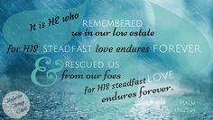 psalm 136 give thanks for the steadfast love of the lord raindrops falling