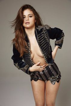 My spunk on a very sexy pic of disney star Selena Gomez topless