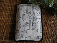 ハンドメイド便利ケース通帳、お薬 母子手帳カトラリー柄 Handmade notebook case ¥900yen 〆04月06日