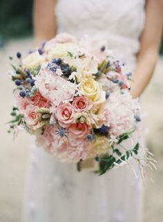 light pink peonies bouquet