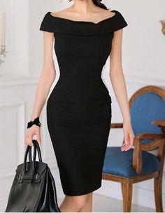 Vintage Boat Neck Color Splicing Off-The-Shoulder Dress For WomenVintage Dresses | RoseGal.com