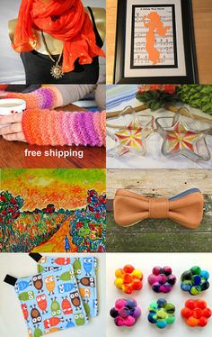 All things Bright and Orange by Eleanor Dayton on Etsy--Pinned with TreasuryPin.com