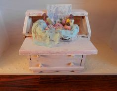 Items similar to Shabby Chic Soap Gift Box on Etsy Miniature Kitchen, Shabby Chic Style, Snow Globes, Decorative Boxes, Miniatures, Soap, Victorian, Projects, Gifts