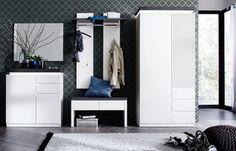 Meble do przedpokoju ATENA lakier matowy Entryway, Led, Furniture, Home Decor, Products, Dressing Room Closet, Contemporary Design, Household, Entrance
