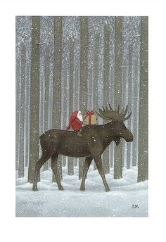 Christmas Moose by Eva Melhuish. I really love this for some reason