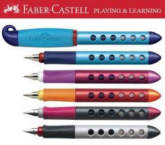 I like the caps on these. I would have to buy one and give it a try. Faber-Castell School Fountain Pen - Right or Left Handed