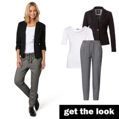 Jogpants, Blazer und Shirt von zero  #zerofashion #getthelook #outfit #ootd
