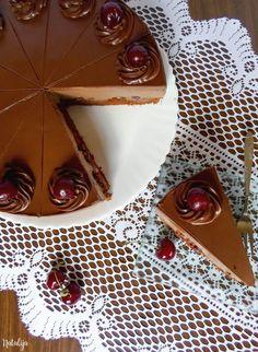 Ludlab torta Baking Recipes, Cake Recipes, Dessert Recipes, Torte Recepti, Torte Cake, Cake Cookies, No Bake Cake, Food Art, Chocolate Cake