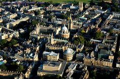 U:K: Oxford aerial view, Oxfordshire, England Oh The Places You'll Go, Places To Visit, A Discovery Of Witches, Oxford England, I Want To Travel, Travel Memories, Travel And Leisure, Book Of Life, European Travel