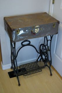 Reclaimed Rustics: Sewing Trunk Accent Table
