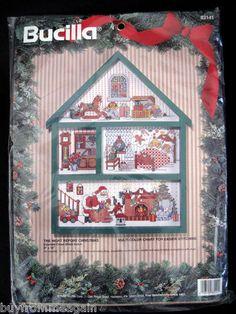"Bucilla The Night Before Christmas 9""x12"" 83141 Santa Claus Cross Stitch NEW"