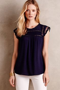 Favorite blouse!  Have it in white.  Nellore Blouse #anthropologie