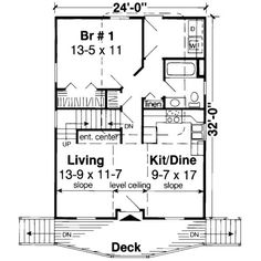 Could be one level, area where stairs are could be used to make nice walk in closet for bedroom, and pantry for kitchen