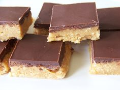 Sugar Free Peanut Butter Cup Squares