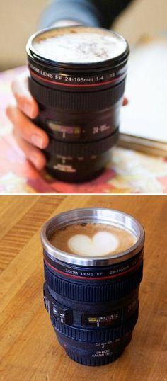 Camera Lens Coffee Mug ♥ I got it!!!