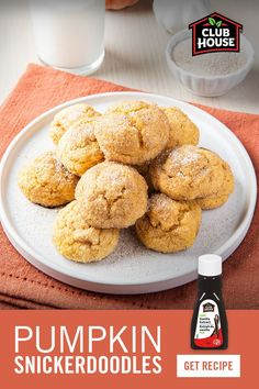 Pumpkin Snickerdoodles make the perfect dessert for fall! Pumpkin Pie Spice adds a warm sweetness to the cookie recipe with a blend of fall spices like cinnamon, ginger and nutmeg. Pumpkin Recipes, Fall Recipes, Holiday Recipes, Sweet Desserts, Delicious Desserts, Yummy Food, Baking Recipes, Cookie Recipes, Dessert Recipes