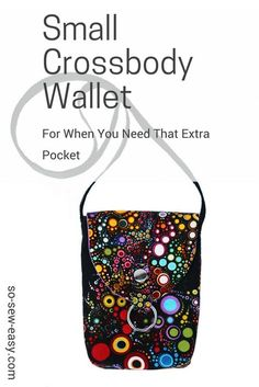 Small crossbody wallet, easy to make and use for the days when a purse is too much and you need and extra pocket. Perfect project for fabric, vinyl or leather.