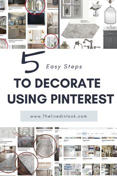 Decorating 101. How to use Pinterest to easily design a room and decorate your home. Don't get overwhelmed with home decor ideas, just hop over to the blog to learn the best tips to create beautifully curated Pinterest boards that will help you find your own unique home decor style to plan any room design. #decoratingtips #decoratingforbeginners #designtips #learntodecorate #howtodecorate #RedHomeAccessories Unique Home Decor, Home Decor Styles, Decorating Tips, Decorating Your Home, Red Home Accessories, Bathroom Inspiration, Boards, Decor Ideas, Create