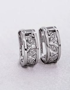 Silver Huggie Earrings