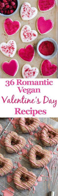 Valentine\'s Day Vegan Recipes roundup | Valentines Day Ideas ...