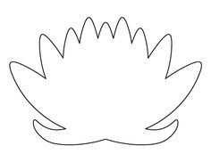 Lotus flower pattern. Use the printable outline for crafts, creating stencils, scrapbooking, and more. Free PDF template to download and print at http://patternuniverse.com/download/lotus-flower-pattern/