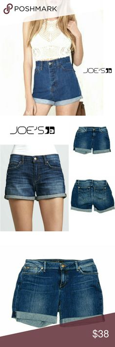 "JOES JEANS ""HONEY"" EMMA WASH JEAN SHORTS JOES JEANS ""HONEY "" ROLLED UP JEANS SHORTS Pre-Loved  / EUC / Pic for Similarity  SZ 32 RN#108214  CA# 35037 EMMA Wash Approx Meas;    Waist   15 1/2""    Rise   8 1/2""    Inseam   5 1/2"" Pls See All Pics. Ask ? If Needed Joe's Jeans Shorts Jean Shorts"