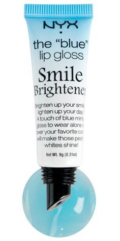 myx cosmetics blue lip gloss // smile brightener