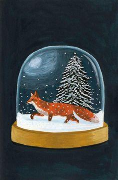 Le renard - Mélanie Voituriez #illustration #gouache #melanievoituriez Illustration Noel, Winter Illustration, Christmas Illustration, Art Globe, Art Fox, Ouvrages D'art, Art Graphique, Christmas Art, Art Inspo