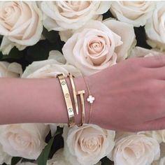 Armband klöver vit