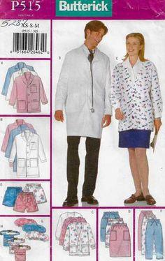 McCall/'s 9644 Uniform Essentials Tops Jacket Skirt Vest Pants Hat choice Size