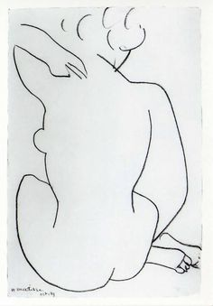 Tekening, Henri Matisse  Zie voor Matisse: http://www.artsalonholland.nl/grote-meesters-kunstgeschiedenis/henri-matisse