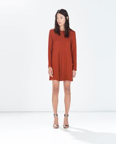 Image 1 of DRESS WITH BOX PLEATS IN THE FRONT from Zara