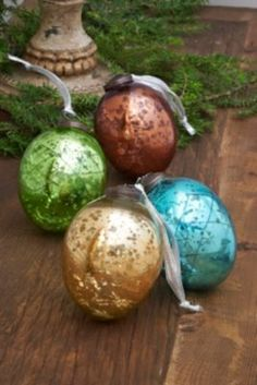 Mercury Glass Egg Ornaments from Soft Surroundings