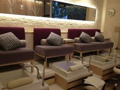 spa nail pedicure stations
