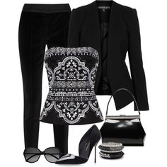 A fashion look from May 2014 featuring White House Black Market tops, Topshop blazers and DAY Birger et Mikkelsen pants. Browse and shop related looks.