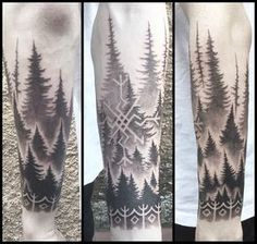 nordic forest tattoo