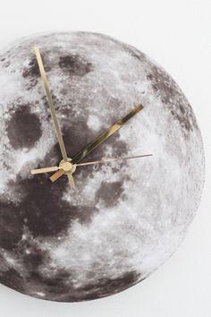 DIY moon wall clock