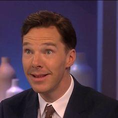 """Benedict Cumberbatch. """"  Please, love me!""""  ( dog speaking... lol!)"""