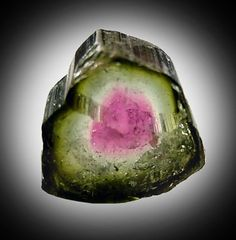 Elbaite | No. 12812: Elbaite Tourmaline (polished section) from Minas Gerais ...