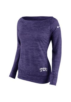 TCU Horned Frogs Nike Crew Sweatshirt Womens purple Warp Epic Long Sleeve