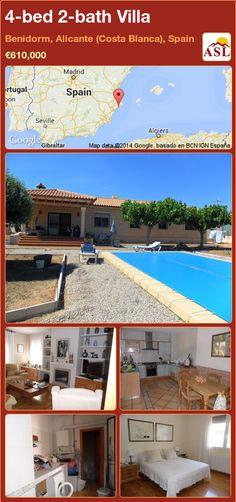 4-bed 2-bath Villa in Benidorm, Alicante (Costa Blanca), Spain ►€610,000 #PropertyForSaleInSpain