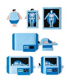 X-ray and scanning machine