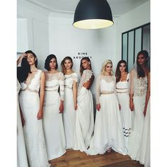 http://instagram.com/bridalmusings Repost from @gregfinck backstage at the @rimearodaky 2015 bridal collection debuted in Paris. He described it as an 'audacious and contrasty collection'.