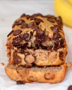Secretly Healthy #GlutenFree Banana Bread {With Chocolate Chips}