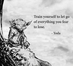 Train yourself to let go of everything you fear to lose.   ~Yoda